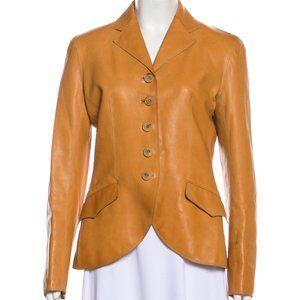 Hermès leather Blazer jacket